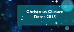 Christmas Closures 2015